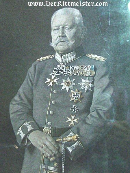 PRUSSIA - LITHOGRAPH - FRAMED COLOR - GENERALFELDMARSCHALL PAUL von HINDENBURG - Imperial German Military Antiques Sale