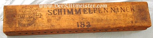 GERMANY - WOODEN FORM FOR DRYING AND TRANSPORTING CIGARS - Imperial German Military Antiques Sale