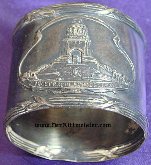 GERMANY - NAPKIN RING FOR THE VÖLKERSCHLACHTDENKMAL IN LEIPZIG - Imperial German Military Antiques Sale