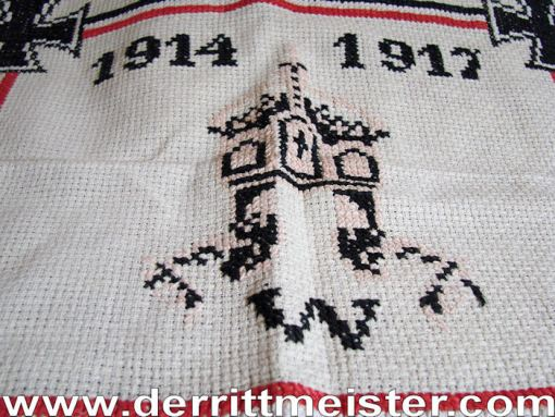 GERMANY - PATRIOTIC PILLOW COVER / WALL COVERING - Imperial German Military Antiques Sale