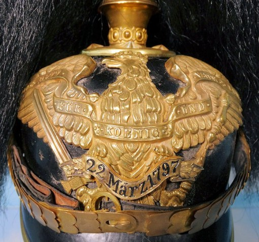 PRUSSIA - PICKELHAUBE - OFFICER - GRENADIER-REGIMENT NR 7 - WITH PARADE BUSH - Imperial German Military Antiques Sale