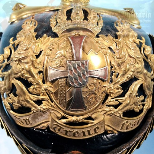 BAVARIA - PICKELHAUBE - RESERVE OFFICER - CHEVAULEGERS OR SCHWERES-REITER-REGIMENT - Imperial German Military Antiques Sale