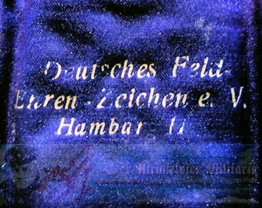 HAMBURG FIELD CROSS - DOCUMENT AND DECORATION - ORIGINAL PRESENTATION CASE - Imperial German Military Antiques Sale