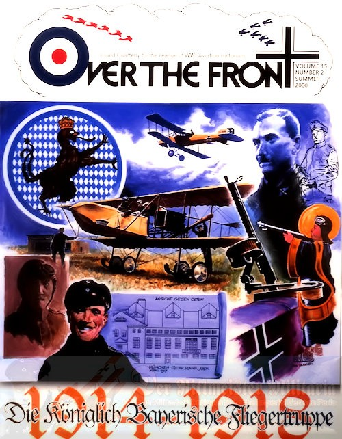 MAGAZINE - OVER THE FRONT: VOLUME 15, NUMBER 2 - LEAGUE OF WORLD WAR 1 AVIATION HISTORIANS - Imperial German Military Antiques Sale