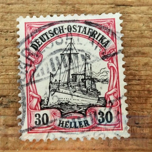 STAMP - GERMAN COLONIAL  - GERMAN EAST AFRICA - 30 HELLER - POSTMARKED DAR ES SALAAM - Imperial German Military Antiques Sale