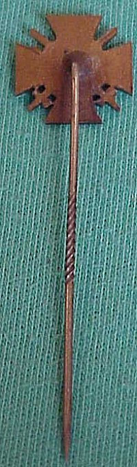 STICKPIN - HINDENBURG CROSS WITH SWORDS FOR COMBATANTS - Imperial German Military Antiques Sale