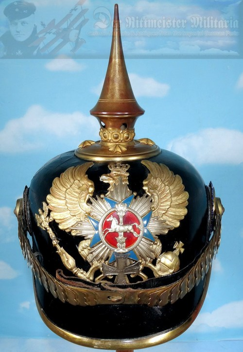BRAUNSCHWEIG - PICKELHAUBE - OFFICER - INFANTERIE-REGIMENT NR 92: BATAILLONE NR I AND II - Imperial German Military Antiques Sale