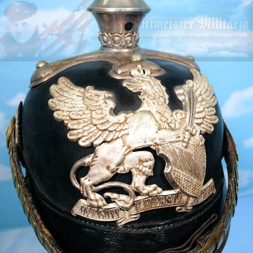 BADEN - PICKELHAUBE - FÄHNRICH'S  - DRAGONER-REGIMENT - Imperial German Military Antiques Sale