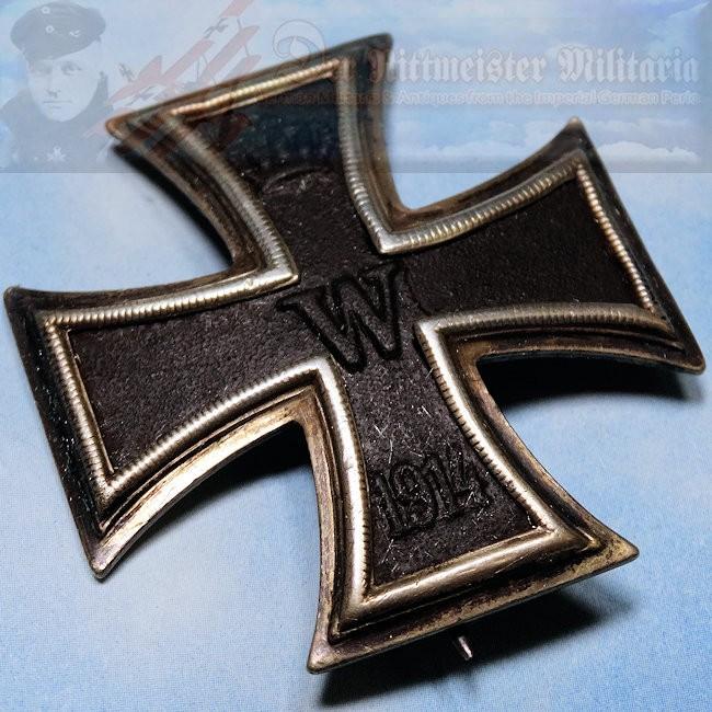 IRON CROSS - 1914 - 1 st CLASS - SLIGHTLY VAULTED - PINBACK - KO HALLMARK -  PRIVATE-PURCHASE - Der Rittmeister Militaria LLC