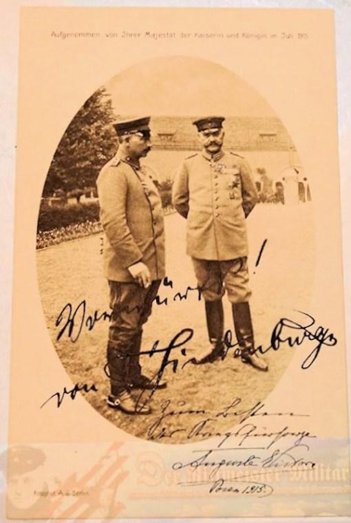 POSTCARD - AUTOGRAPHED - GENERALFELDMARSCHALL - PAUL von HINDENBURG - Imperial German Military Antiques Sale