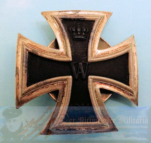 "IRON CROSS - 1914 - 1st CLASS - THREE-PIECE SCREWBACK - THIRD REICH ERA PRODUCTION - SLIGHTLY VAULTED - GODET ""L/12"" HALLMARK"