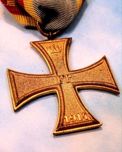 MECKLENBURG-SCHWERIN - 1914 MILITARY SERVICE CROSS 2nd CLASS - COMBATANT'S - Imperial German Military Antiques Sale