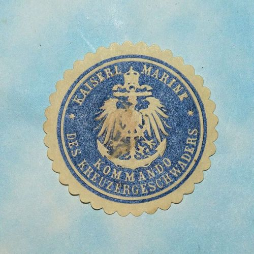 PAPER STAMP FOR CRUISER SQUADRONS' COMMANDING OFFICER - KAISERLICHE MARINE - Imperial German Military Antiques Sale
