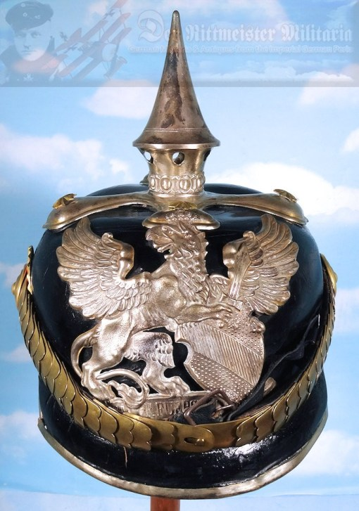 BADEN - PICKELHAUBE - ONE-YEAR-VOLUNTEER - PRE-1897 DRAGONER-REGIMENT - Imperial German Military Antiques Sale
