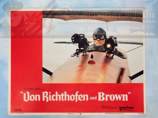 MOVIE THEATER CARD - VON RICHTHOFEN AND BROWN