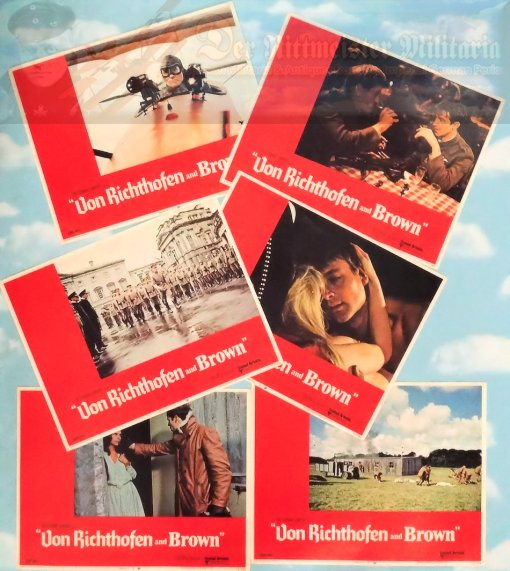 MOVIE THEATER CARDS - SET OF 6 -VON RICHTHOFEN AND BROWN