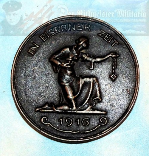 "TABLE MEDAL - ""GOLD FOR IRON"" - Imperial German Military Antiques Sale"