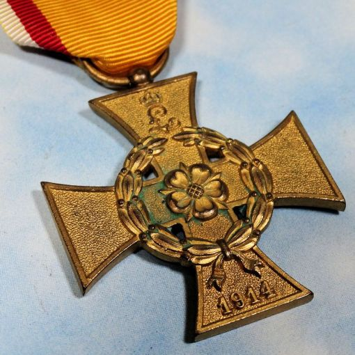 WAR SERVICE CROSS 2nd CLASS - COMBATANT'S - LIPPE DETMOLD - Imperial German Military Antiques Sale