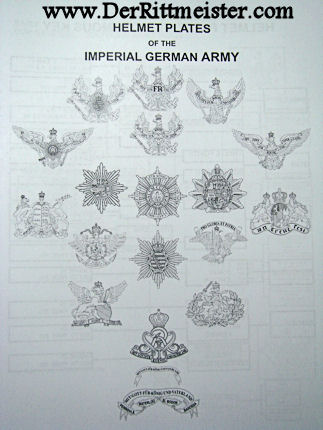 PRICE GUIDE for HEADGEAR of the IMPERIAL GERMAN ARMY - 2015-16 EDITION - Imperial German Military Antiques Sale