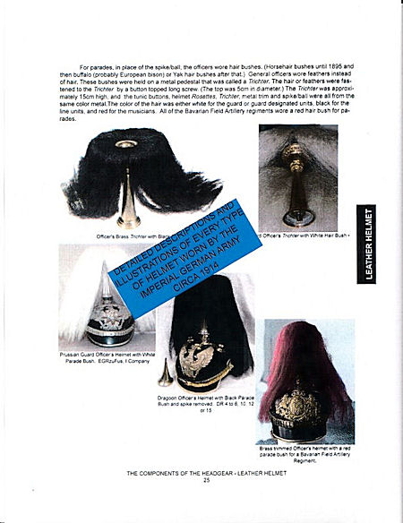 COLLECTING GUIDE - HEADGEAR of the 1914 GERMAN ARMY. - Imperial German Military Antiques Sale