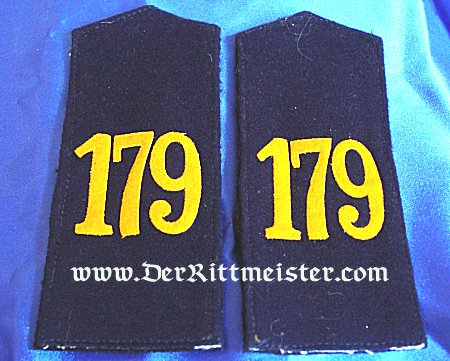 SAXONY - SHOULDER STRAPS - ENLISTED MAN - INFANTERIE-REGIMENT Nr 179 - Imperial German Military Antiques Sale