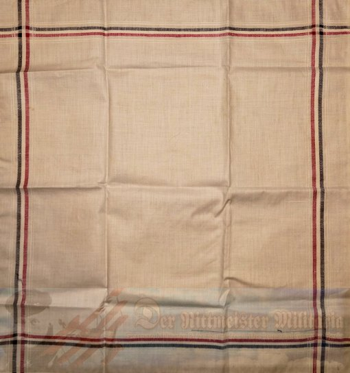 GERMANY - LINEN NAPKIN/DRESSER SCARF - GERMAN NATIONAL COLORS - Imperial German Military Antiques Sale