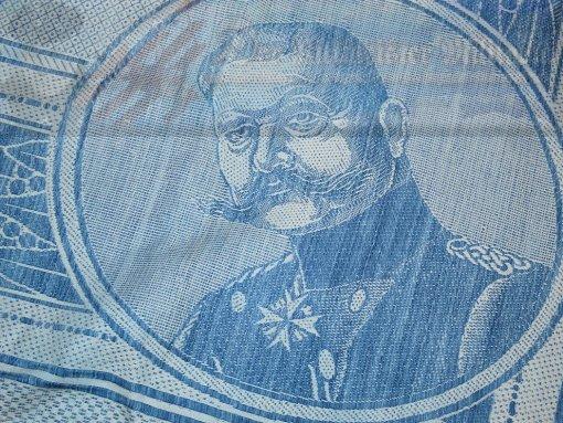 GERMANY - TABLECLOTH  - COMMEMORATING GENERALFELDMARSCHALL PAUL von HINDENBURG'S BATTLE OF TANNENBERG VICTORY - Imperial German Military Antiques Sale