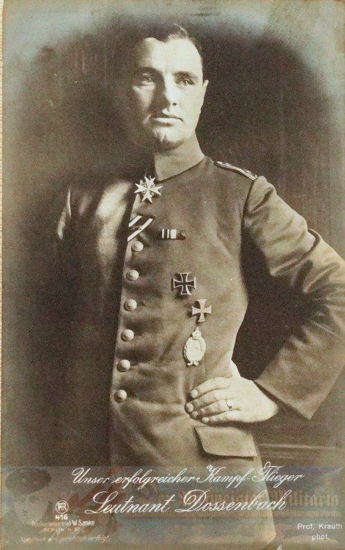 PRUSSIA - SANKE CARD - LEUTNANT ALBERT DOSSENBACH - AVIATION - NR 416