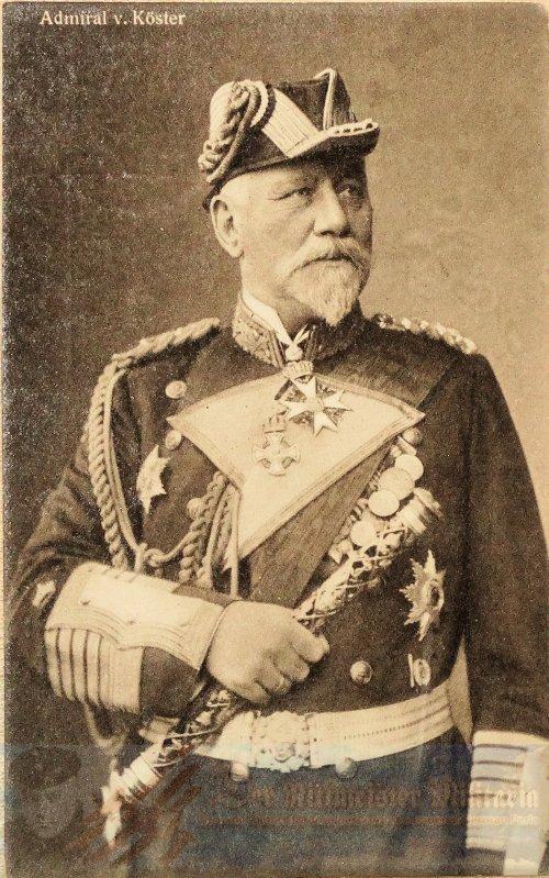PRUSSIA - POSTCARD - GROßADMIRAL HANS VON KÖSTER - NAVY