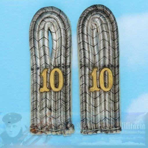PRUSSIA - SHOULDER BOARDS - LIEUTENANT - INFANTERIE-REGIMENT NR 10