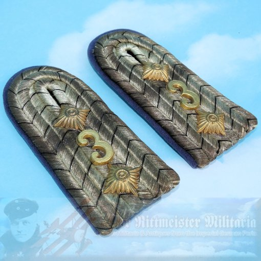 PRUSSIA - SHOULDER BOARDS - HAUPTMANN - TRAIN ABTEILUNG NR 3 - Imperial German Military Antiques Sale