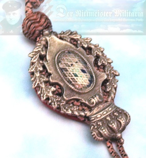 BAVARIA - SHOOTING AWARD - SCHÜTZENSCHNUR - 7th CLASS - Imperial German Military Antiques Sale