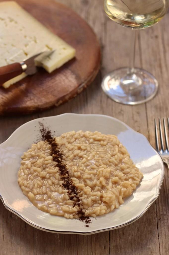 Ricetta del risotto al caffè e formaggio