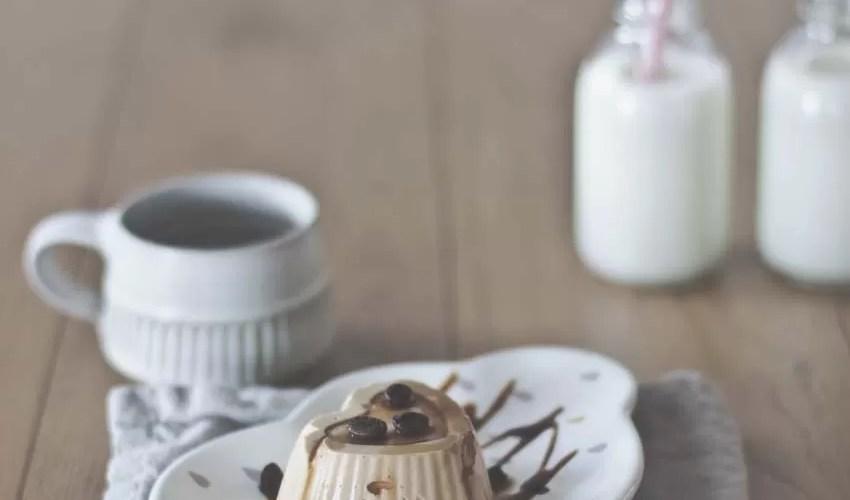 Budino al caffè con salsa al caramello