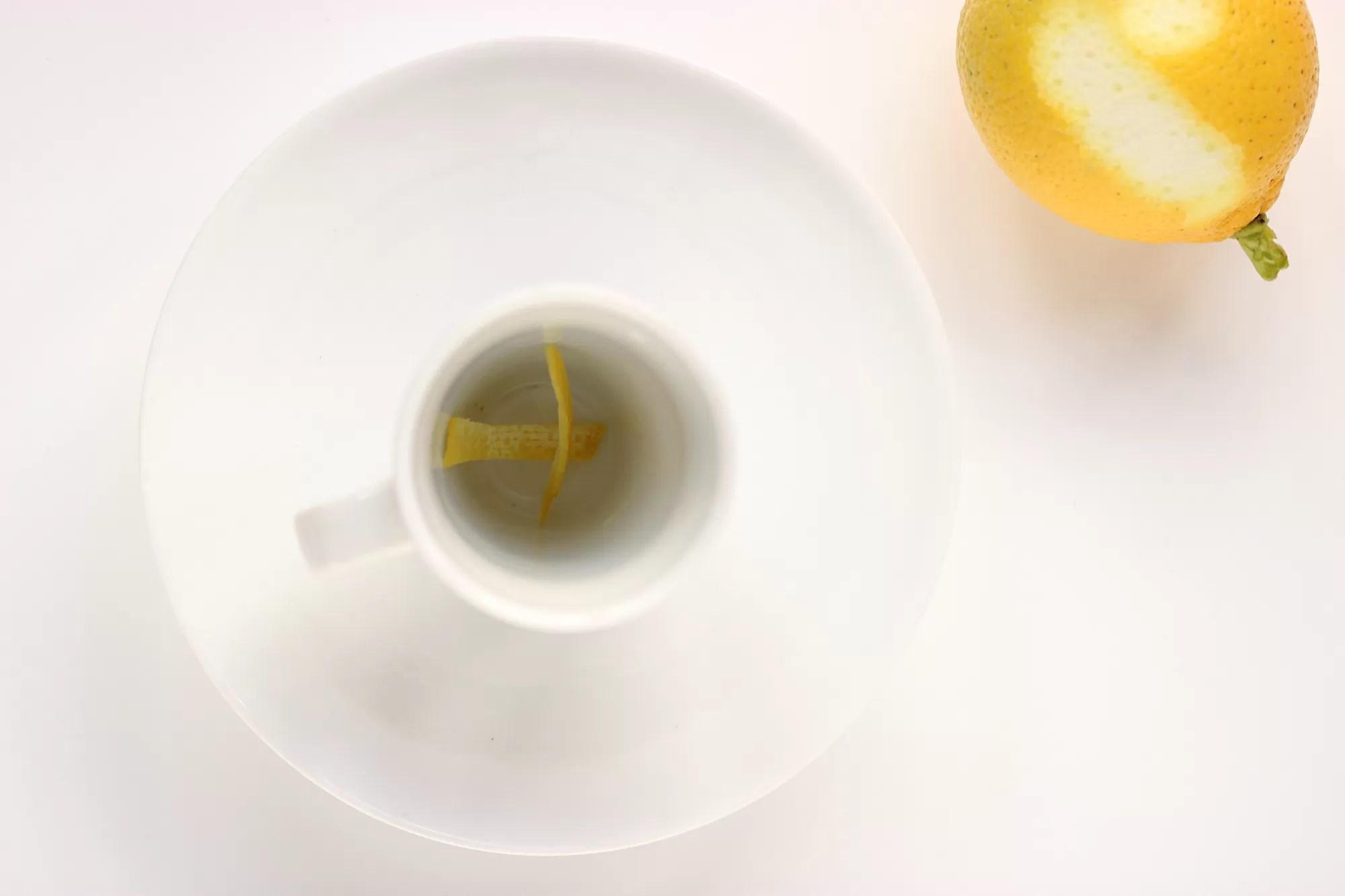 Caffè e scorza di limone