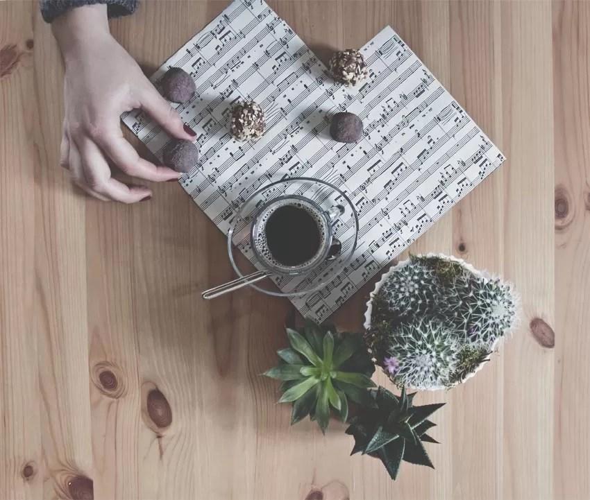 tartufini al cioccolato e caffè
