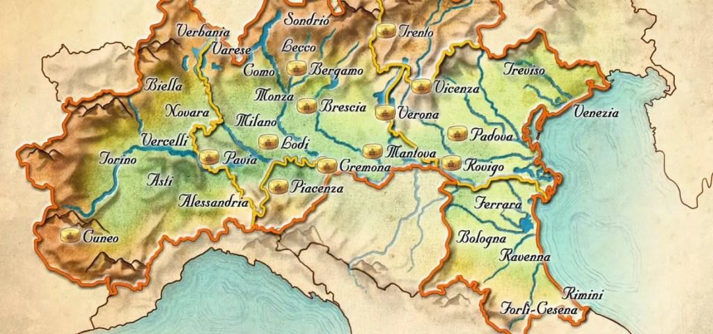 regioni in cui può essere prodotto il grana padano dop