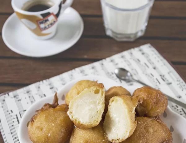 Frittelle di carnevale ripiene alla crema, irresistibili e goduriose.
