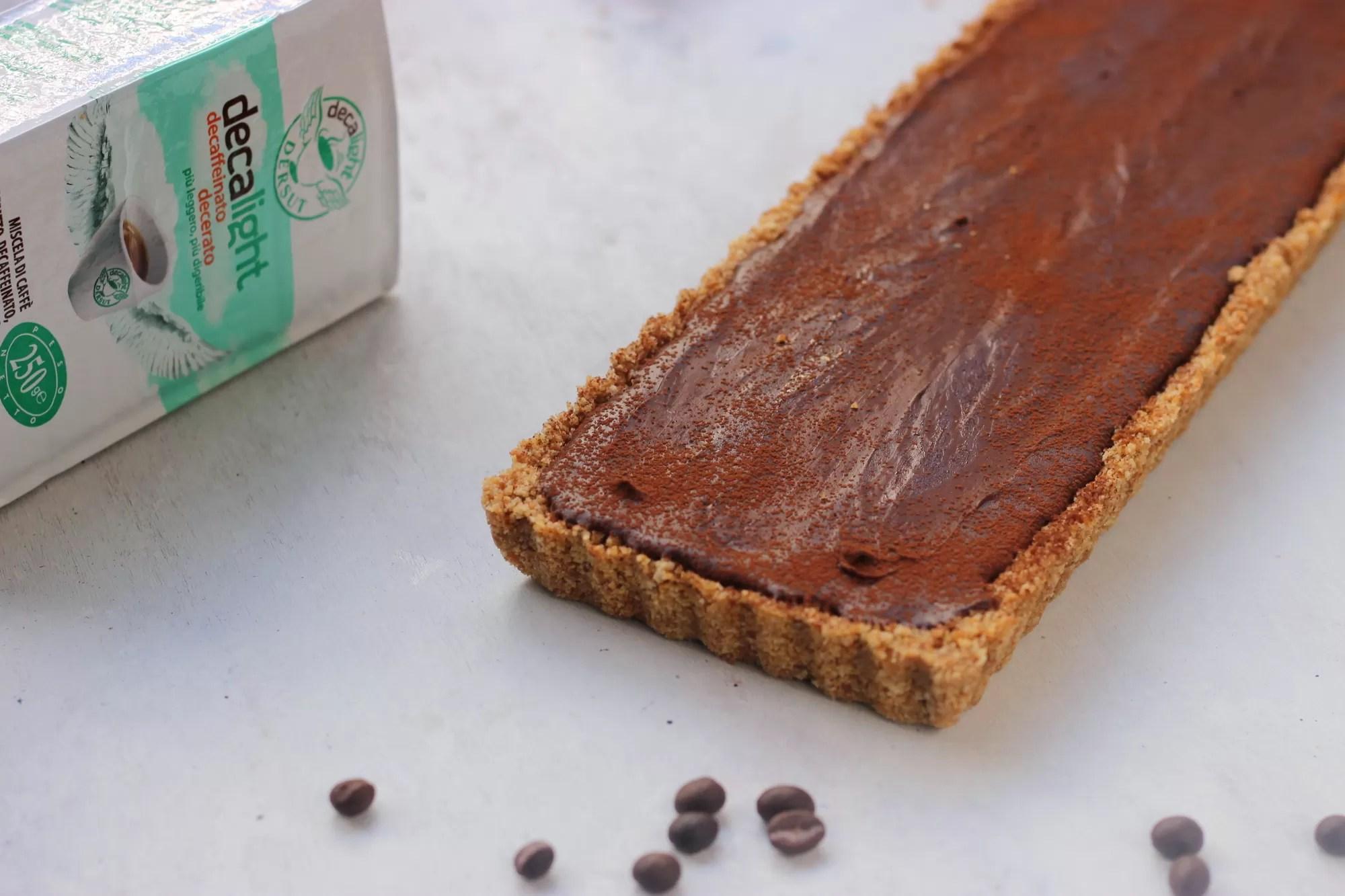 crostata al cioccolato - come riciclare il caffè avanzato