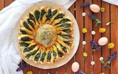 Torta girasole agli spinaci e ricotta, il rustico perfetto per la tua Pasqua