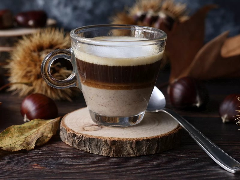 Caffè con crema alla castagna