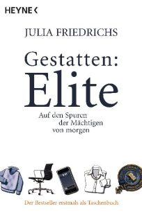 """Was ist eigentlich eine """"Elite""""? Zeichnet sie sich aus durch besondere Begabungen, wohlhabende Eltern, gute Erziehung? Was macht einen Menschen wie Dich und mich zur Elite Deutschlands? Welche Kriterien zählen, um ganz oben mitzumischen? Julia Friedrichs macht sich auf den Weg, um sie zu finden: Die Eliten von morgen, die kaum älter sind als sie selbst. Sie schaut hinter die Fassaden der scheinbar Einflussreichen. Sie sucht dieses eine, """"gewisse Etwas"""". Am Ende wirft sie all ihre Fachliteratur zuhause um. Wütend. Frustriert. Mit einer erschreckenden Erkenntnis, die - nach kurzem Schock - allen ein Schmunzeln auf die Lippen zaubert. Was nach dem Lesen dieses Buches bleibt, ist das Gefühl, nun zu wissen, wer die Elite ist. Und was sie nicht ist. Ganz besonders mochte ich die unkomplizierte, unverklärte Art von Julia Friedrichs aus der Ich-Perspektive heraus ihre Eindrücke zu schildern. Sie schreibt sehr locker, so dass man sich vorkommt, als würde man mit ihr durch die Internate und Wirtschaftsschulen Deutschlands und der Welt schlendern, und sie würde mir, einen Kaffee schlürfend, von ihren Erlebnissen erzählen. Kurz und knapp: hintergründig, locker-flockig, zum Schmunzeln und doch mit einer interessanten Erkenntnis, die den Blick auf die Eliten verändert."""