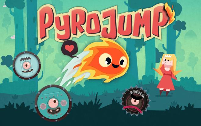 Pyro Jump - Écran titre