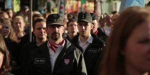 Auf einer Jobbik-Kundgebung