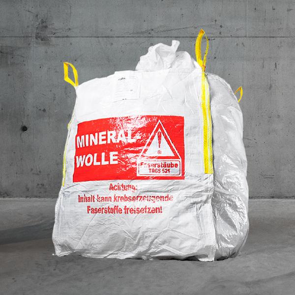 Big Bag Mineralwolle/KMF XL,bigbag für glaswolle,bigbag Mineralwolle XL 1m³;150 kg,Glaswollenbag,XL Glaswollen bigbag DESABAG