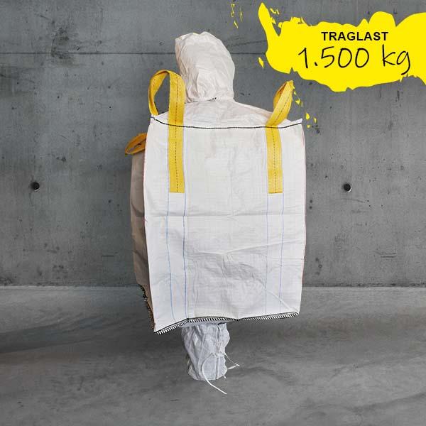 Big Bag 90x90x110cm,Big Bag cross corner,Big Bag mit auslauf und einlauf,Big Bag 1500kg,90x90x110cm Big Bag cross corner DESABAG