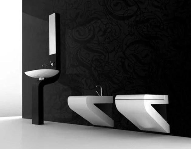 paredes de baño negro