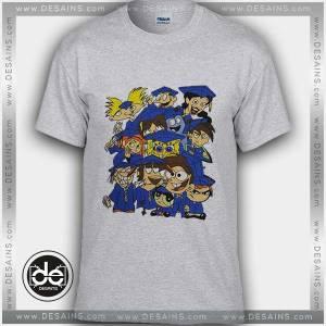 Buy Tshirt Nickelodeon Characters College Tshirt mens Tshirt womens Size S-3XL