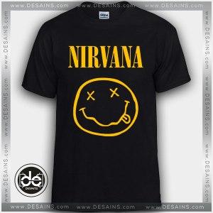 Buy Tshirt Nirvana Band Smiley Tshirt mens Tshirt womens Size S-3XL