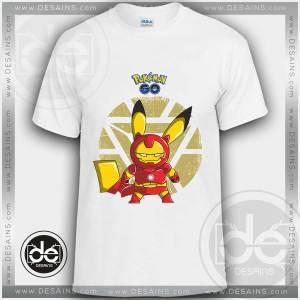 Buy Tshirt Pika Iron Man Pokemon Go Tshirt mens Tshirt womens Size S-3XL